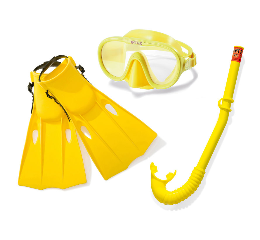 Intex Snorkel Set - 3-delig - M - Geel
