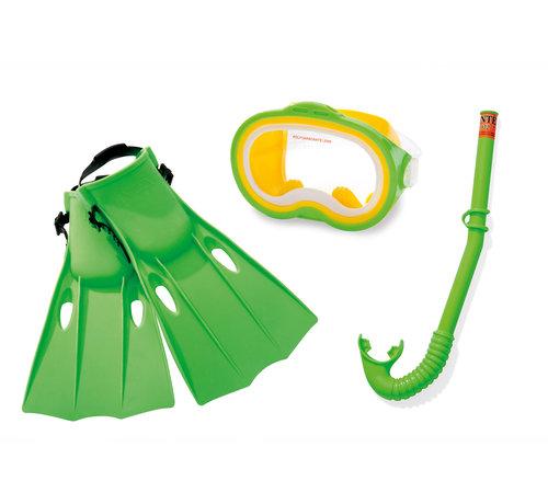 Intex Intex - Schnorchel - kit - 3-Teilig - Grün