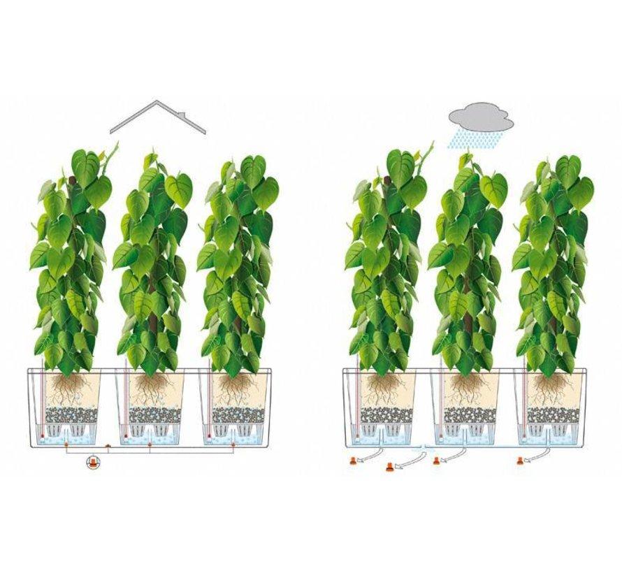 Lechuza - plantenbak TRIO COTTAGE 40 grafietzwart ALL-IN-ONE set