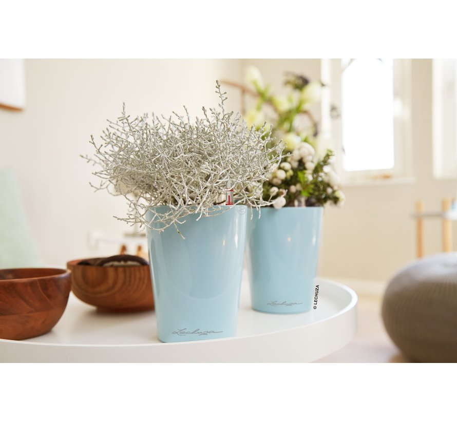 Lechuza - tafelpot Mini-Deltini scandinavisch blauw hoogglans ALL-IN-ONE set