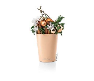 Lechuza Lechuza - tafelpot Mini-Deltini rose apricot hoogglans ALL-IN-ONE set