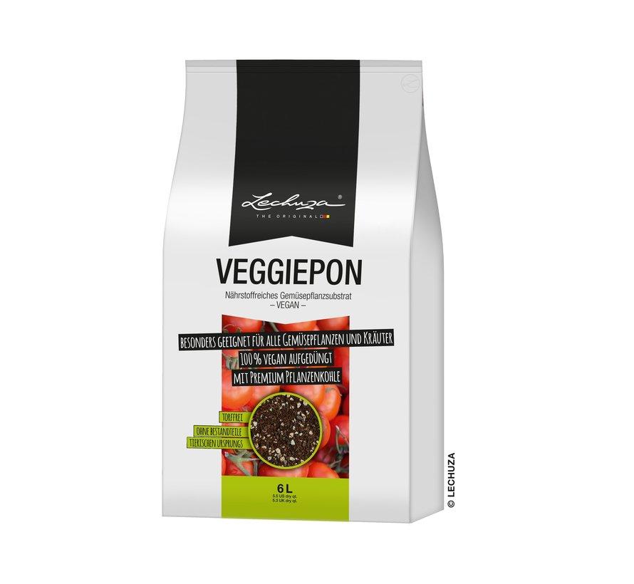 Lechuza -  LECHUZA-VEGGIEPON 6 liter - plantaardig substraat voor groenten - 100% veganistisch en turfvrij