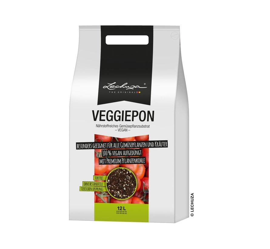 Lechuza -  LECHUZA-VEGGIEPON 12 liter - plantaardig substraat voor groenten - 100% veganistisch en turfvrij