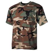 MFH MFH - US T-Shirt  -  Woodland camo  -  170 g/m²