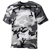 MFH Outdoor MFH - US T-Shirt  -  Urban camo  -  170 g/m²