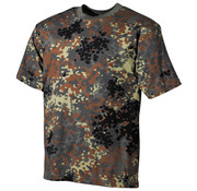 MFH Outdoor MFH - US T-Shirt  -  Vlekken camouflage  -  170 g/m²