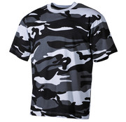 MFH Outdoor MFH - US T-Shirt  -  Skyblue camo  -  170 g/m²