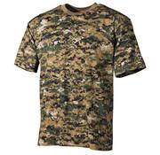MFH Outdoor MFH - US T-Shirt  -  Woodland digital  -  170 g/m²