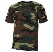"MFH Outdoor MFH - US T-shirt  -  ""Streetstyle""  -  Woodland camo  -  145 g/m²"
