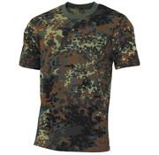 """MFH Outdoor MFH - US T-shirt  -  """"Streetstyle""""  -  Vlekken camouflage  -  145 g/m²"""