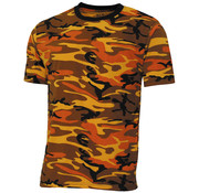 "MFH MFH - US T-shirt  -  ""Streetstyle""  -  Oranje camo  -  145 g/m²"