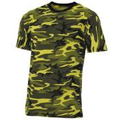 "MFH Outdoor MFH - US T-Shirt -  ""Streetstyle"" -  gelb-camo -  140-145 g/m²"