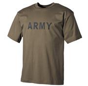 "MFH MFH - T-shirt  -  Legergroen  -  ""Army"" bedrukt"