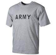 "MFH Outdoor MFH - T-shirt  -  Grijs  -  ""Army"" bedrukt"