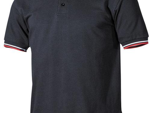 ProCompany ProCompany - Poloshirt -  schwarz -  rot-weiße -  Streifen -  mit Knopfleiste