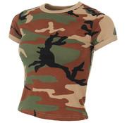 MFH Outdoor MFH - US T-shirt  -  Dames  -  Woodland camo