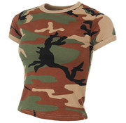 MFH Outdoor MFH - US T-shirt  -  Dames  -  Woodland camouflage