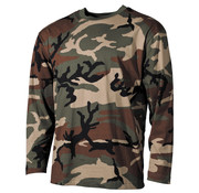 MFH Outdoor MFH - US shirt  -  Lange mouwen  -  Woodland camo  -  170 g/m²