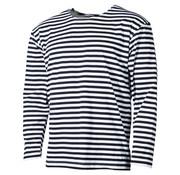 MFH MFH - Russisch navy shirt  -  Wit met blauw  -  Lange mouwen