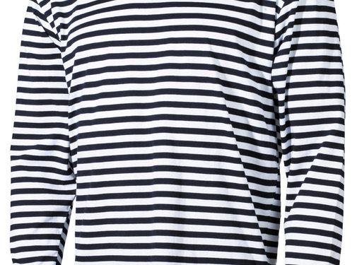 MFH Outdoor MFH - Russisch marine shirt  -  Wit met blauw  -  Lange mouwen  -  Zomermodel
