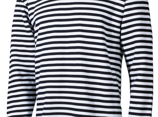 MFH Outdoor MFH - Russisch marine shirt  -  Wit met blauw  -  Lange mouwen  -  Wintermodel