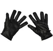 MFH Outdoor MFH - Vinger handschoenen  -  Leer  -  Zwart