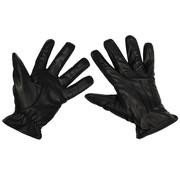 "MFH Outdoor MFH - leren handschoenen  -  ""Safety""  -  Zwart - snijbestendig"
