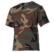 MFH Outdoor MFH - Kinder T-shirt  -  Woodland camo  -  170 g/m2