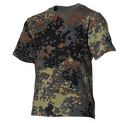 MFH Outdoor MFH - Kinder T-shirt  -  Vlekken camouflage  -  170 g/m2
