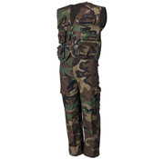 MFH Outdoor MFH - Kinder pak  -  Vest en broek  -  Woodland camo  -  Afneembare broek