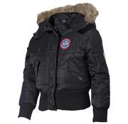 MFH Outdoor MFH - US kinder jas  -  N2B  -  Zwart  -  Met bontkraag capuchon