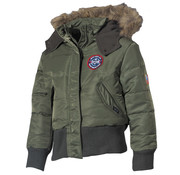 MFH Outdoor MFH - US Kinder-Polarjacke -  N2B -  oliv -  Kapuze mit Fellkragen