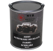 MFH Outdoor MFH - Army Lack -  SCHWARZ -  matt -  Dose -  1 l