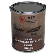 MFH Outdoor MFH - Army Lack -  BRAUN -  matt -  Dose -  1 l
