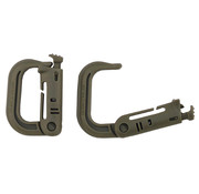 """MFH Outdoor MFH - Carabiner  -  Plastic  -  """"MOLLE""""  -  coyote tan  -  2-pack"""