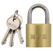 MFH Outdoor MFH - cadenas -  metallique -  w/3 clés -  import: 4 - 5 x 2 - 5cm