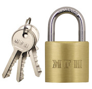 MFH Outdoor MFH - Vorhängeschloss -  Metall -  mit -  3 Schlüssel -  ca. 6 x 4 cm