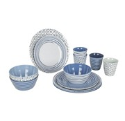 Bo-Camp Bo-Camp - Servies - 100% Melamine - 16-delig - Mix & match - Blauw