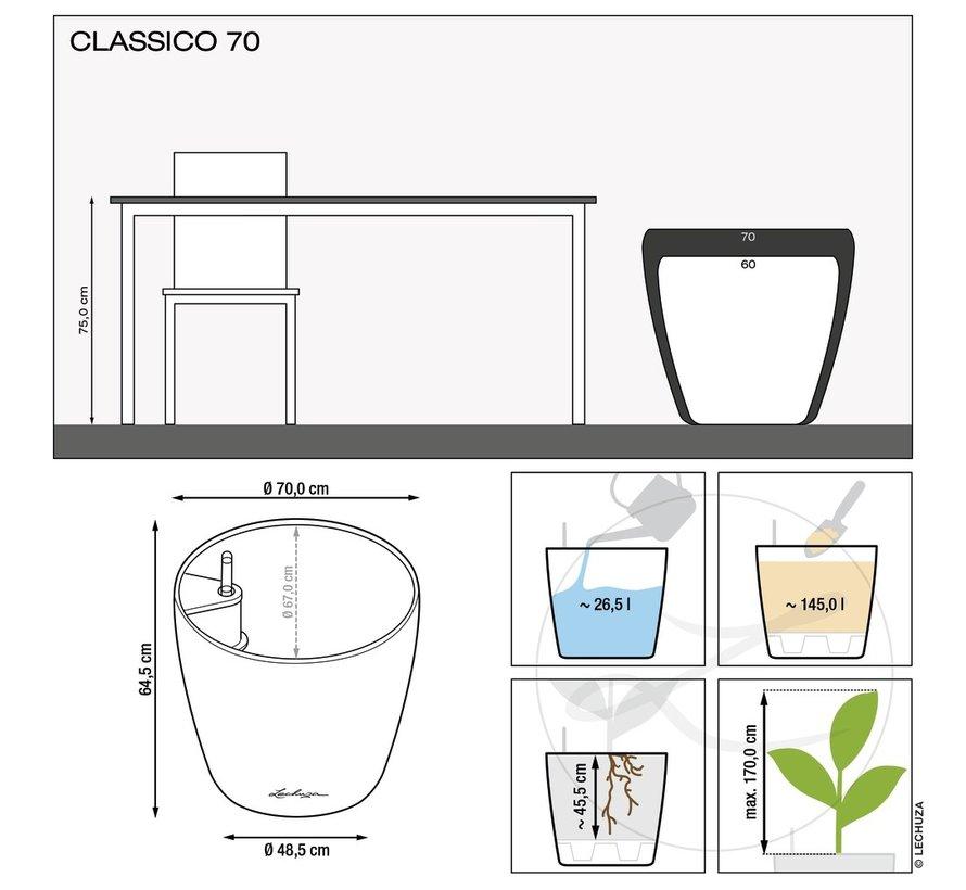 Lechuza - plantenbak CLASSICO COLOR 70 zandbruin ALL-IN-ONE set