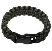 "MFH MFH - Armband  -  ""Parachute Cord""  -  Olive  -  Breedte ca. 2  -  3 cm"