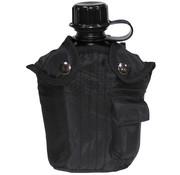 MFH MFH - Amerikaanse plastic kantine  -  1 l  -  Cover  -  Zwarte  -  BPA gratis