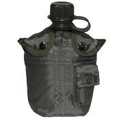 MFH MFH - US Plastikfeldflasche -  1 l -  Hülle -  oliv -  BPA-frei