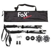 "Fox Outdoor Fox Outdoor - Aluminium Trekking Polen  -  ""Haidel""  -  Opvouwbaar  -  schuimgreep"