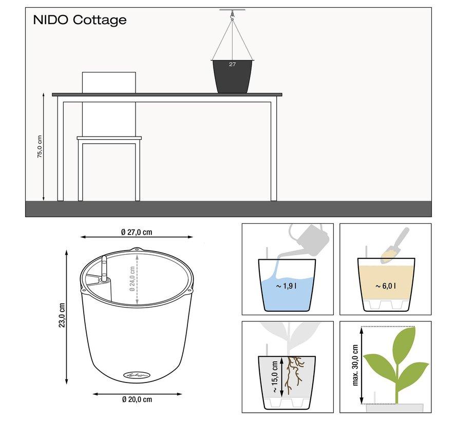 Lechuza - plantenbak NIDO COTTAGE Lila ALL-IN-ONE set