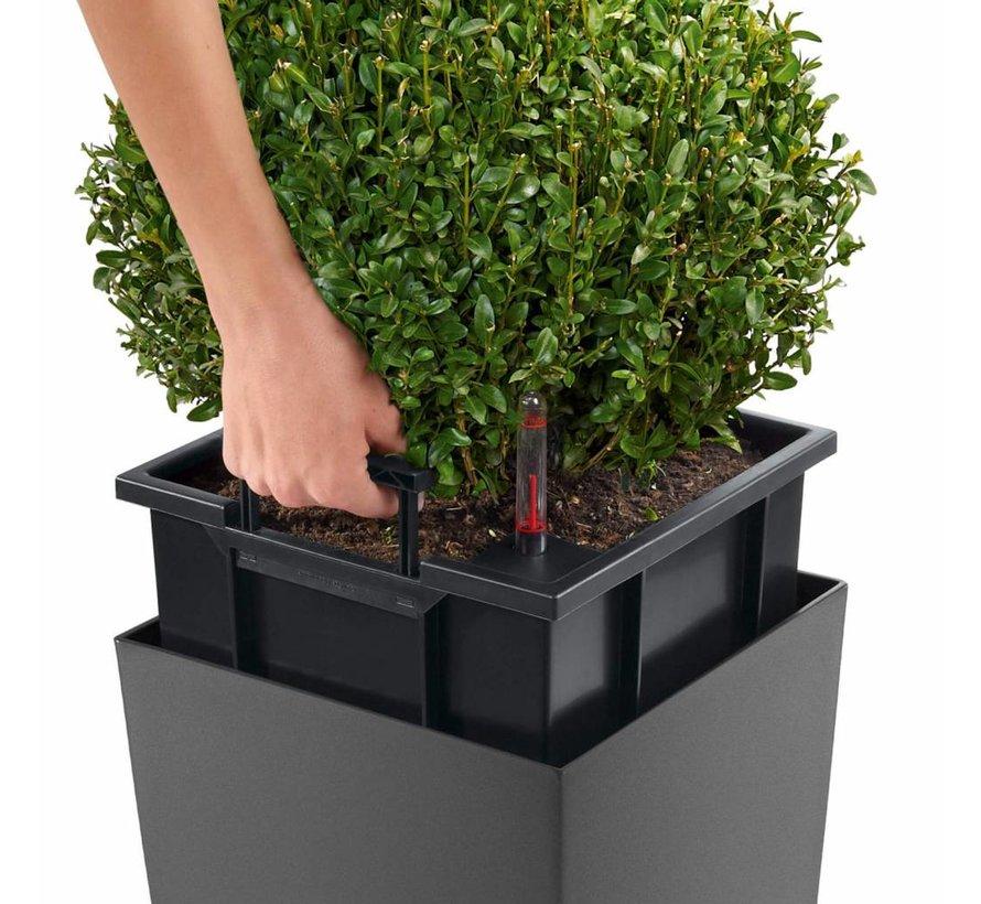 Lechuza - plantenbak CUBICO PREMIUM 40 Taupe hoogglans ALL-IN-ONE set - Tweede keus