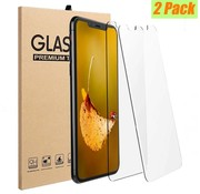 Tempered glass voor iPhone X 0.3mm (double pack)
