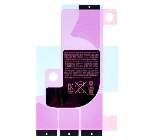 iPhone X batterij sticker