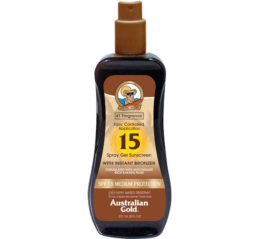 Spray Gel with Bronzer - Żel w sprayu do opalania z naturalnym bronzerem SPF 15