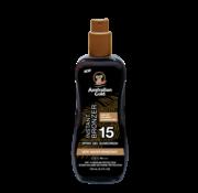 Australian Gold Spray Gel with Bronzer - Żel w sprayu do opalania z bronzerem w podróżnym opakowaniu SPF 15, 100 ml