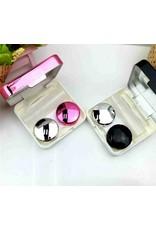 EyeKan Lenzendoosje, Lenshouder, chic en elegant met spiegel, pincetje en vloeistofflesje